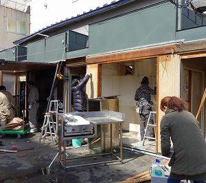 屋台の改修工事が始まりました!!